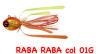 Artificiale Raba Raba 115 gr colore Arancio/Oro